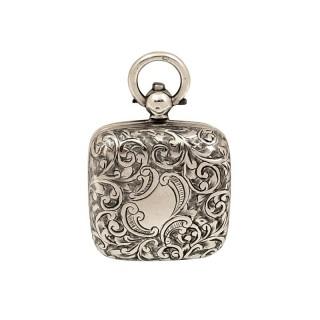 Antique Edwardian Sterling Silver 'Square' Sovereign Case 1908