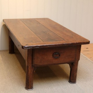 Substantial Early 19th Century French Oak Low Table
