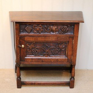 French Dark Oak Side Cabinet