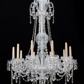 A TEN LIGHT LATE VICTORIAN CHANDELIER ATTRIBUTED TO JAMES GREEN