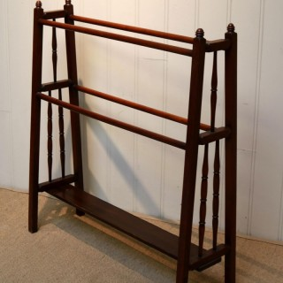 Arts And Crafts Walnut Towel Rail