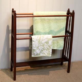Arts And Crafts Walnut Towel Rail