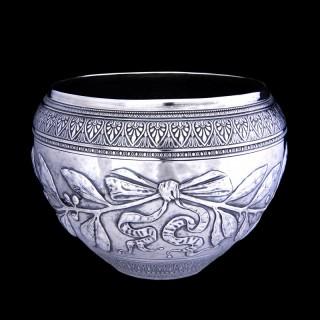 A Giacinto Melillo silver vase or bowl