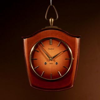 1960s Design German Junghans Wooden Wall Clock.