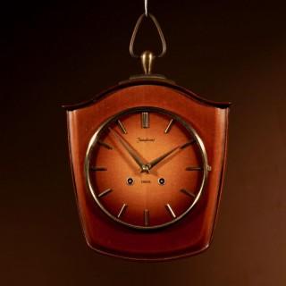 1960s Design German Junghans Wooden Wall Clock.