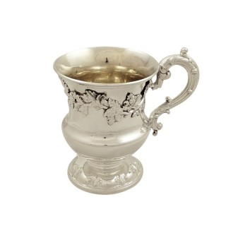 Antique  William IV Sterling Silver Christening Mug 1833