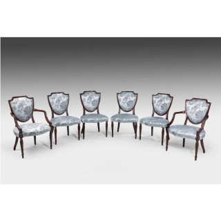 Set of Six Late 19th Century Hepplewhite Design Chairs