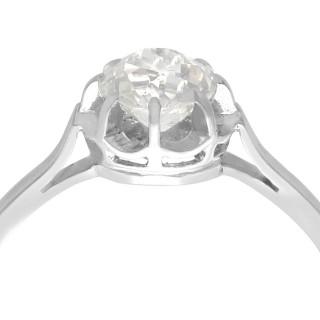0.90 ct Diamond and Platinum Solitaire Ring - Antique French Circa 1920