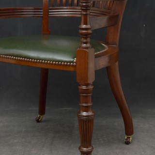Turn of the Century Mahogany Desk Chair