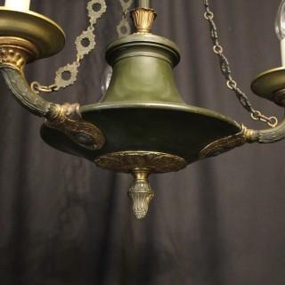 French Gilded Bronze Empire 3 Light Chandelier