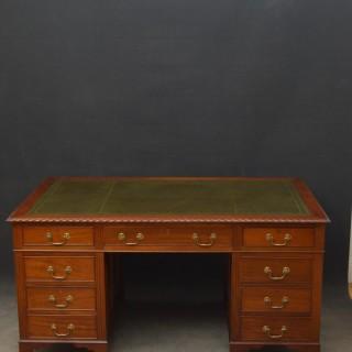 Large Mahogany Pedestal Desk