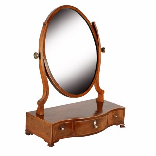 Georgian Serpentine Dressing Mirror