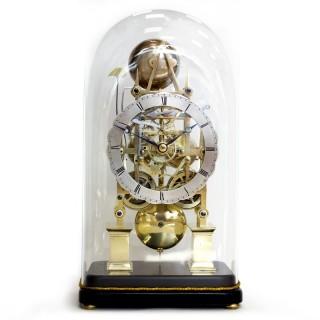 Antique striking fusee skeleton clock