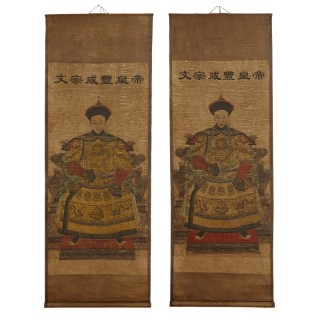 Pair of 20th Century Chinese scrolls