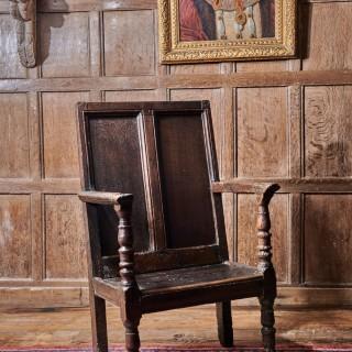 Henry VIII joined oak armchair