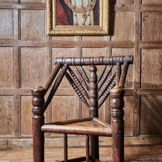 Elizabeth I ash turned armchair