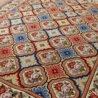 Antique English Needlework Carpet