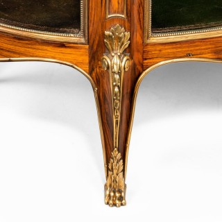 A Napoleon III kingwood freestanding open bookcase