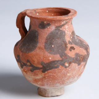 Nabatean Painted Terracotta Jug with Handle