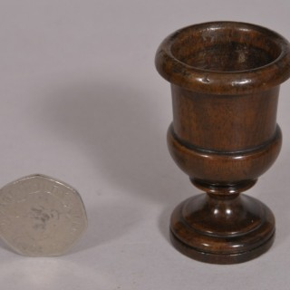 Antique Treen 19th Century Walnut Quails Egg Cup