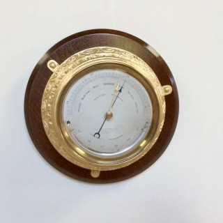Victorian Aneriod Wall Barometer