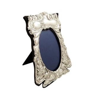 Antique Art Nouveau Sterling Silver Photo Frame 1901