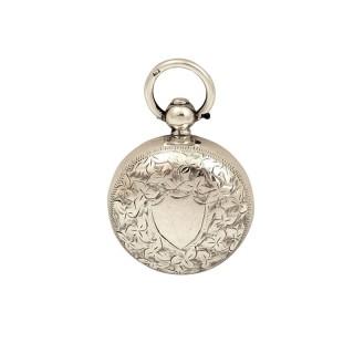 Antique Edwardian Sterling Silver Sovereign Case 1902