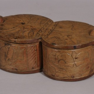 Antique Treen 18th Century Scandinavian Food Box