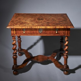 A William and Mary Olive Oyster Table, circa 1690 England
