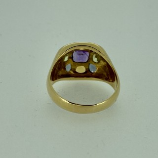 18ct Gold Multi Gem Cocktail Ring