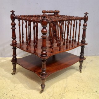 William IV mahogany canterbury.