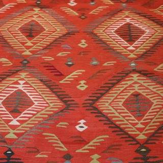 Antique Thracian Kilim Carpet