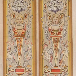 Pair of  Aubusson Tapestry Panels