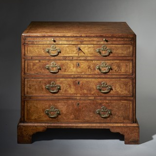 An Important George II Burr/Burl Walnut Caddy Topped Chest, circa 1730-1740