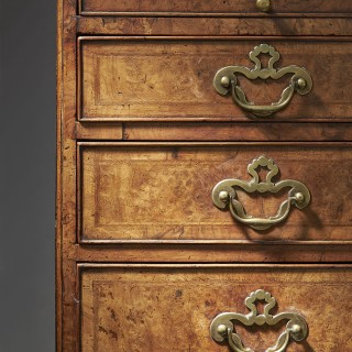An Important George II Burr/Burl Walnut Caddy Topped Chest, circa 1730-1740