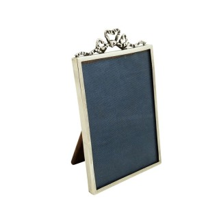Antique Sterling Silver 'Bow / Ribbon' Photo Frame 1914