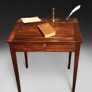 A George III Period Mahogany Tally Desk