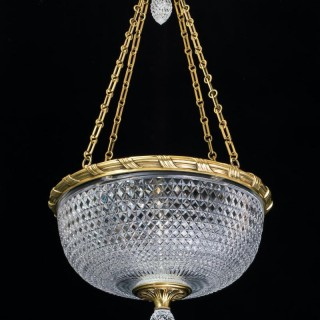 A LARGE ELABORATELY CUT BOWL LIGHT BY F&C OSLER