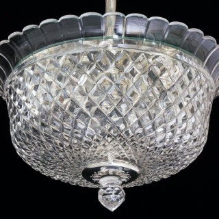 A CUT GLASS PLAFONNIER BY F&C OSLER