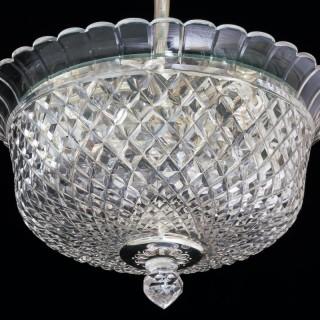 A CUT GLASS PLAFONNIER BY F&C OSLER