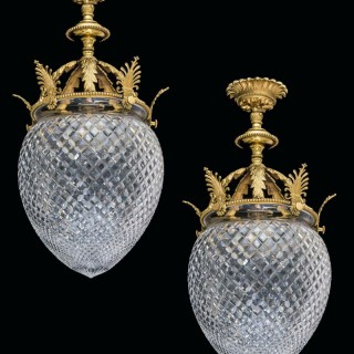 A PAIR OF ACORN LANTERNS BY FARADAY & SON