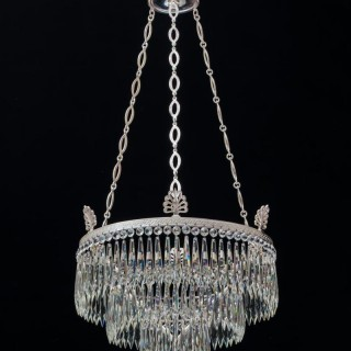 A VICTORIAN WATERFALL CHANDELIER BY F&C OSLER
