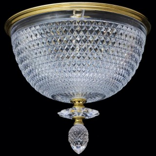 A LARGE CUT GLASS PLAFONNIER BY F&C OSLER