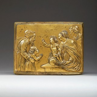 An Exceptional Renaissance Gilt-Bronze Relief