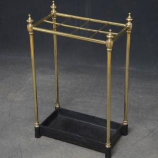 Late Victorian Brass Umbrella Stand
