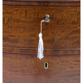 Antique George III Serpentine Flame Mahogany Chest Drawers 18th Century