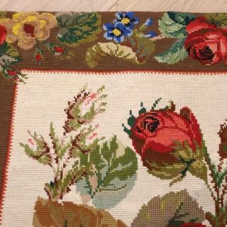 Exquisite English Needlework Rug