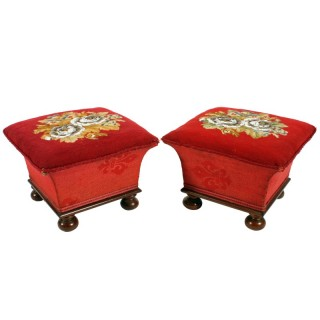 Pair of Victorian Foot Stools