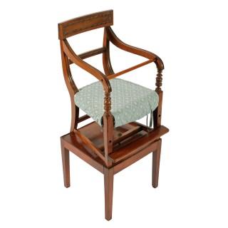 Georgian Mahogany Child's High Chair
