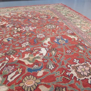 Striking 19th century Mahal carpet
